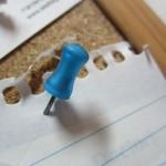 pale blue ~ 17 push pin